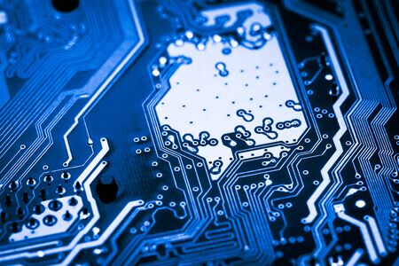 Abstract, close up of Mainboard Electronic computer background.