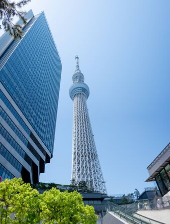 The most beautiful Viewpoint tokyo sky tree in tokyo city ,japan.