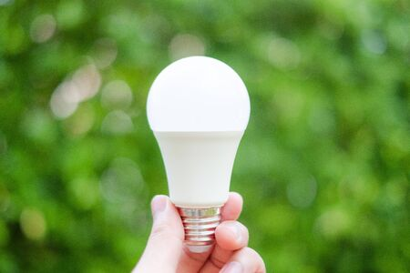 Energy saving LED BULB ECO With the environment Standard-Bild - 147725405