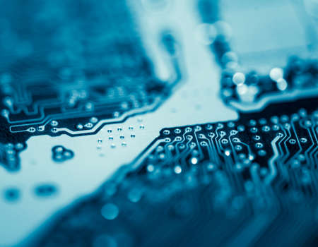 Abstract,close up of Mainboard Electronic background. (logic board,cpu motherboard,circuit,system board,mobo) Archivio Fotografico