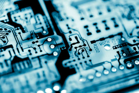 Abstract,close up of Mainboard Electronic background. (logic board,cpu motherboard,circuit,system board,mobo) Banco de Imagens