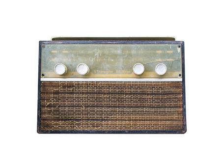 old radio: Retro old radio isolated on white background
