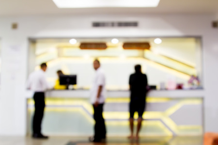 counter service: Blurred image of counter service at hotel