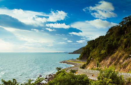 coastal: Coastal road sea in  Chanthaburi, Thailand