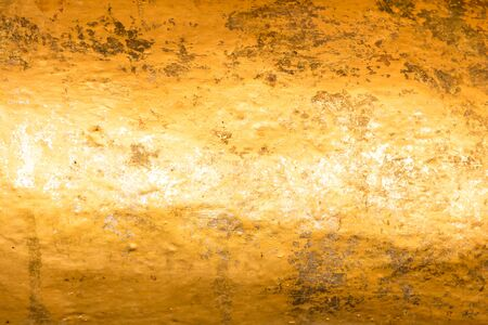 metal sheet: Gold leaf on surface of Buddha for textured background
