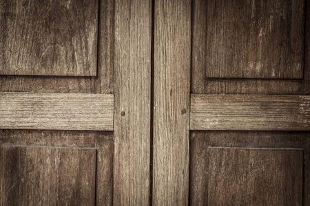 arbol roble: antigua puerta de madera de textura de fondo Foto de archivo