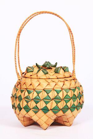 thai style coconut leave handbags. photo