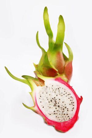 brit: Dragon fruit ( Hylocercus undatus (Haw) Brit. & Rose.)   Stock Photo