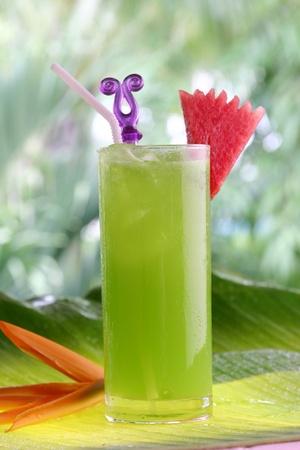 Green apple & Melon milkShake photo