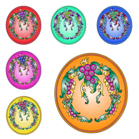 Thai style Bunches of grapes icons Stock Photo - 11087339