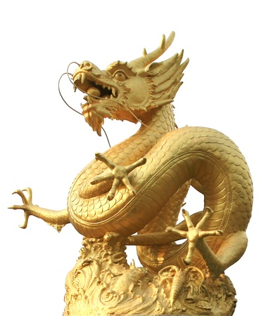 chinese temple: Golden dragon