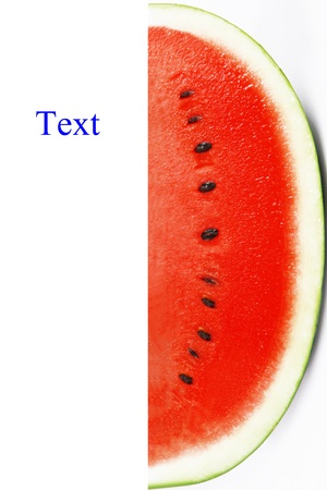 half of water melon photo