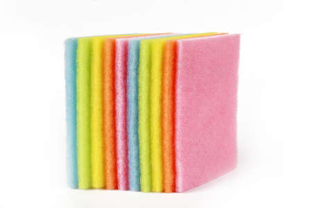 colorful of scrubbing pad