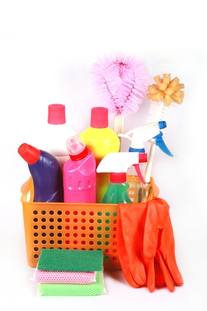 neatness: cleaning set. Stock Photo