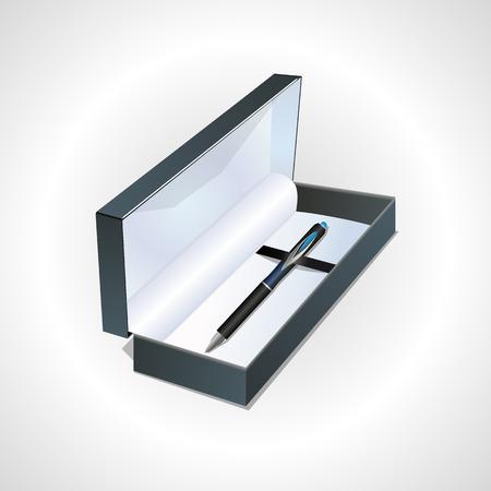 case: Ballpoint pen in case