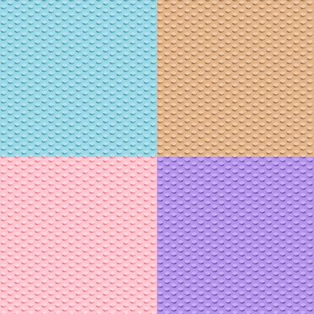 details: Set of four Building toy bricks. Seamless pattern.