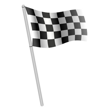 Illustration of a racing flag on a white background.