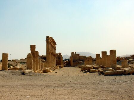 magnificence: Palmyra. Alive the memory of its former magnificence. Stock Photo