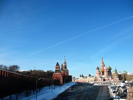 gorbachev: Red Square, the view from the Stone Bridge. City center, the center of