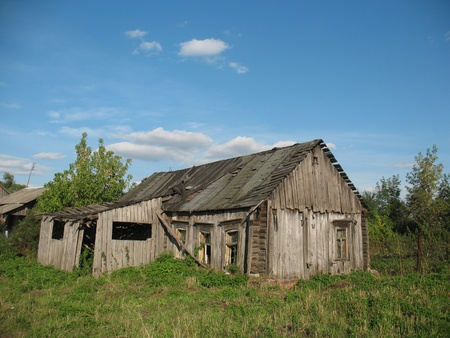 In the Ryazan region due to urbanization each year a growing number of abandoned houses and deserted villages photo