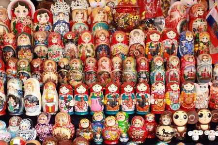 Colourful dolls can be purchased in tourist centers in Russia