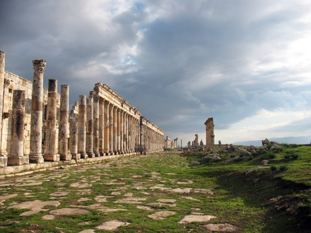 Apamea is one of the most interesting and almost not studied antique cities of Syria. Is between the Boor and Aleppo, near to border with Lebanon.