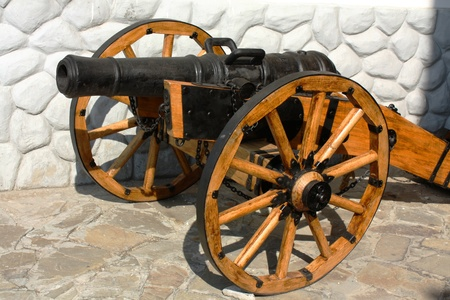 castings: The artillery gun.  Cast iron, castings, size 127-128 mm. Russia, XVIII century Stock Photo