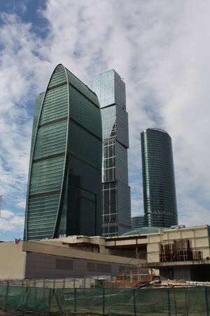 Buildings of the area Moscow City