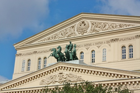 bove: Bolshoi Theatre � it is the largest in Russia and one of the largest in the world of Opera and Ballet