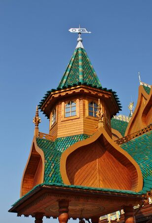 Palace in Kolomenskoye  near Moscow  (also known as the Palace of Tsar Alexei Mikhailovich) � it is the wooden palace, built in the suburban village of Kolomenskoye  in the second half of XVII century Editorial