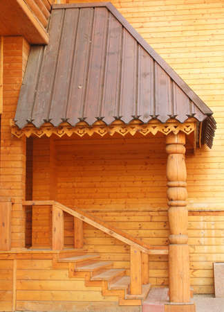 Detail of log home - the layout of the building of the seventeenth century