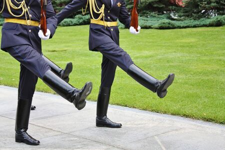 obliged: At the movement by a ceremonial step the military man is obliged to pull a sock so that the foot was parallel to the earth