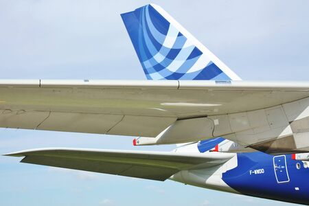 Wings and fuselage and  of the largest passenger aircraft A 380
