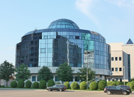 Office building on the territory of Gazprom  complex in Moscow.  Here there are central offices of  the Monopoly