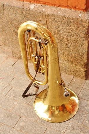 Tuba (Italian from the Latin tuba -,pipe, Eng. Tuba, it. Tuba, fr. Tube) - shirokomenzurny brass wind musical instrument, the lowest in the register photo