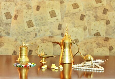 Memories of the Middle East - the coffee maker, coffee grinder, rosary photo