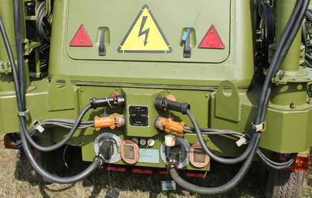 powe: Army mobile power generator truck