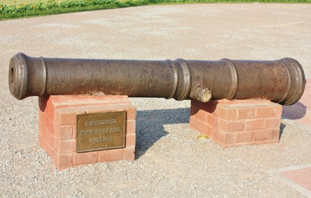 castings: artillery guns.  Cast iron, castings, size 127-128 mm. Russia, XVIII century