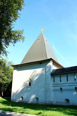 Andronicus Monastery is the oldest monastery in Moscow. Founded in 1357 Stock Photo