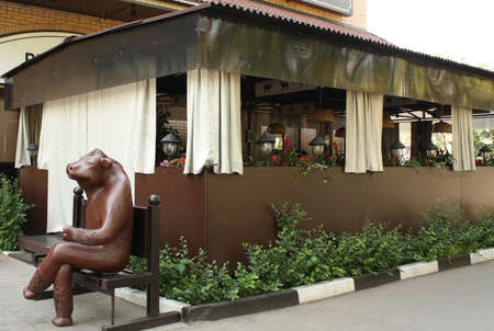 Open-air cafe on the streets of the city
