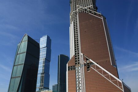 Moscow City - is being built business district in Moscow on the waterfront Presnenskaya