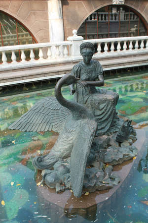 One of the sculptures created on the base of fairy tales in the river Neglinka near the Manege Square in Moscow photo