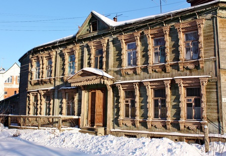wooden house of the early twentieth century in the center of Ryazan