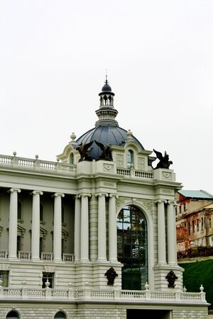 classicism: palace was built with the borrowing of architectural elements of classicism and Empire Stock Photo