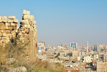 View of the center of Homs from city fortress photo