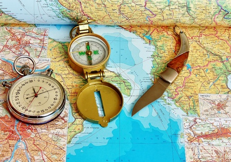 Preparing for a journey begins with a detailed plan Stock Photo