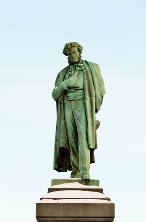 Monument to Alexander Pushkin was erected in Moscow Stock Photo
