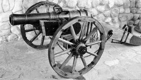 artillery gun.  Cast iron, castings, size 127-128 mm. Russia, XVIII century