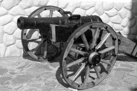 castings: The artillery gun.  Cast iron, castings, size 127-128 mm. Russia, XVIII century Stock Photo