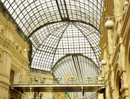Interior of the Main Department Store  GUM  in Moscow